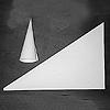 糊筒用三角紙