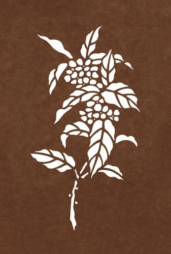 ワンポイント彫型紙 B5判サイズ No.3221 キンモクセイ