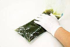 酸化防止袋に移す